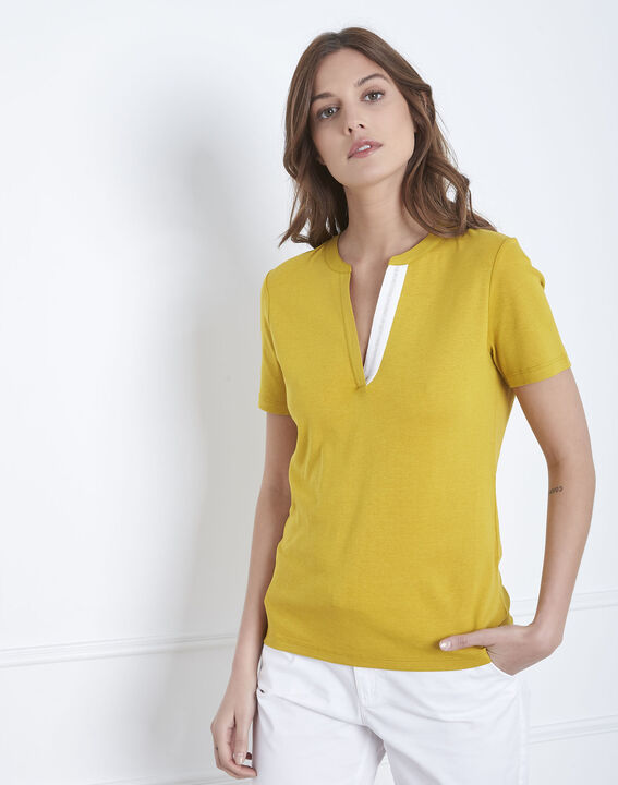 Tee-shirt anis encolure fantaisie Priscille (2) - Maison 123