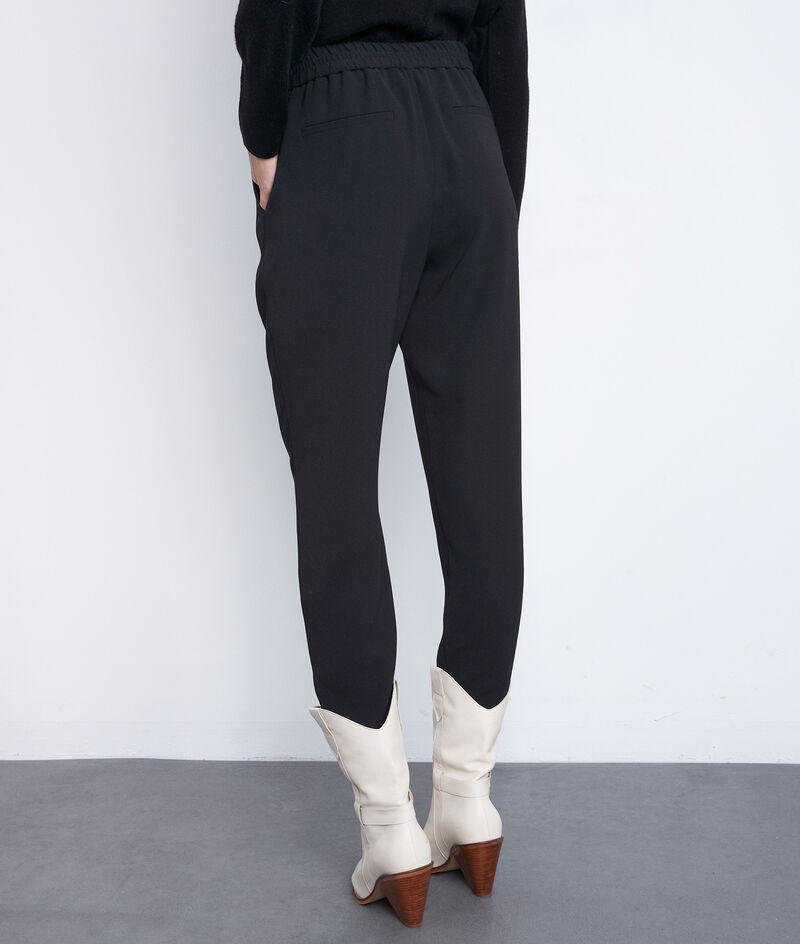 Zwarte broek van crepe met koord Flynn  PhotoZ | 1-2-3