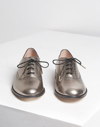 Lucinda rosewood leather derbies rose.