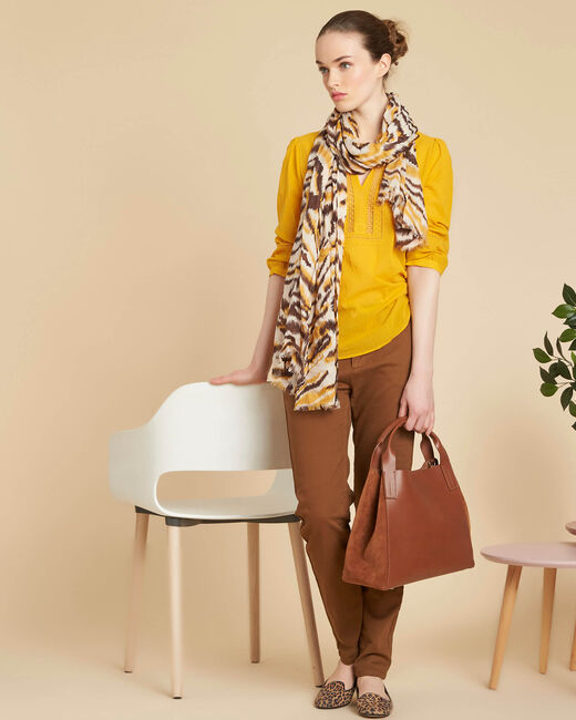 Pantalon marron chino Valentin (1) - 1-2-3