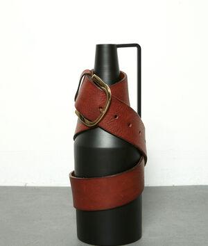 Ceinture large en cuir marron Estelle