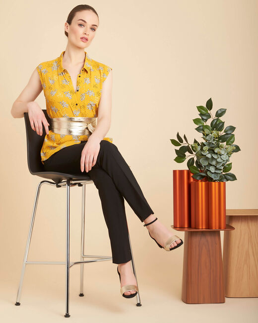 Armony sleeveless yellow top with pattern (1) - 1-2-3
