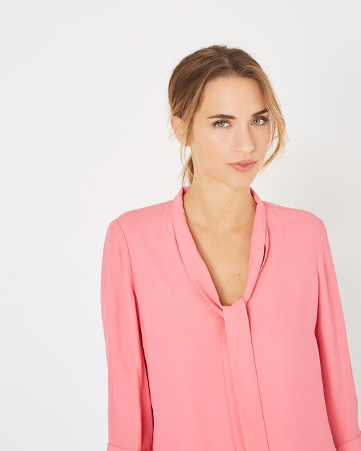 Denise pink blouse with pussy bow (2) - 1-2-3