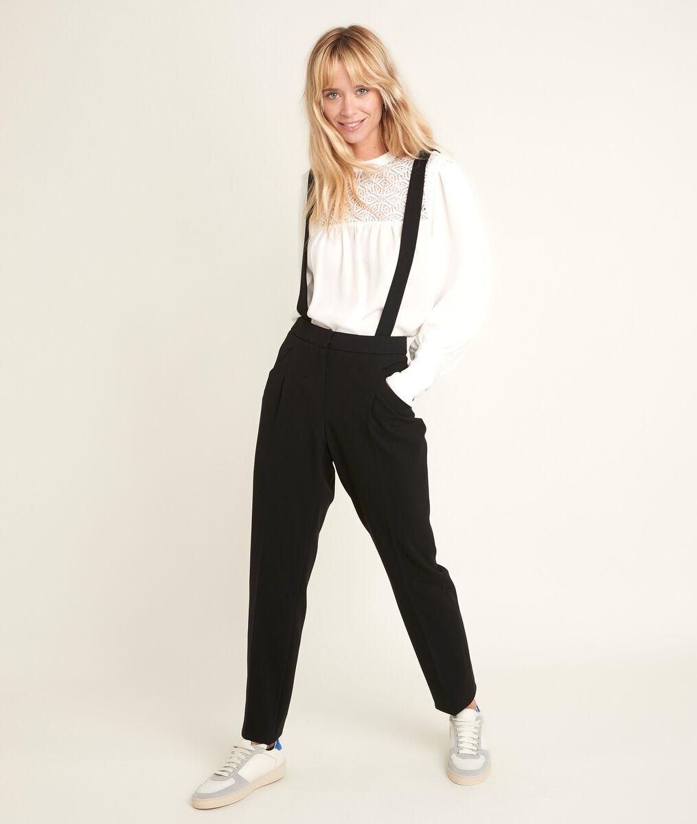 Pantalon en microfibre à bretelles Perroquet PhotoZ | 1-2-3
