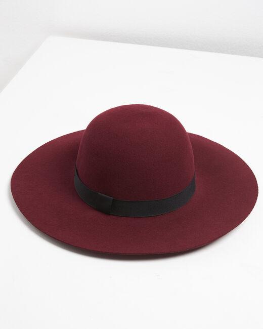 Chapeau en laine couleur rubis Uriel (2) - 1-2-3