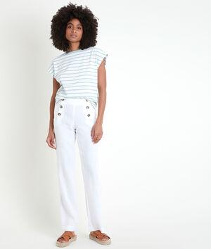 Pantalon en lin certifié à pont Iber