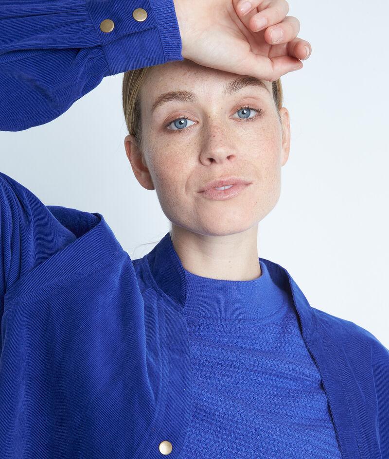 Chemise en velours milleraies de coton bleu Adam PhotoZ | 1-2-3
