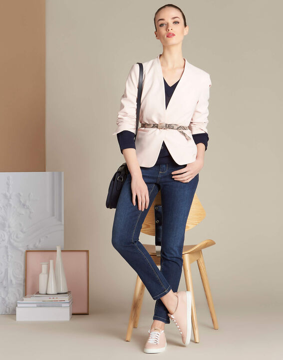Dunkelblaue Slim-Fit-Jeans Vendome (2) - 1-2-3