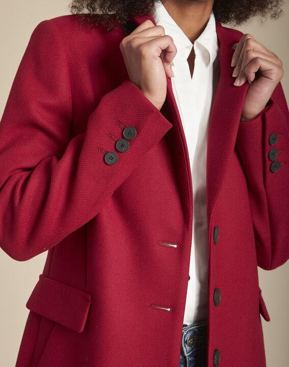 Manteau rouge en laine mélangée Plume (3) - Maison 123