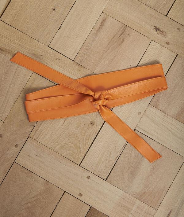 Ceinture en cuir orange à nouer Raul PhotoZ | 1-2-3