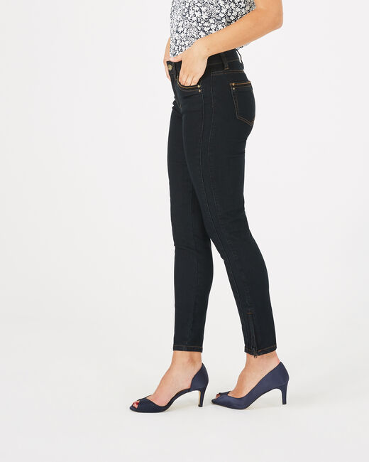 Pia 7/8th length black jeans (2) - 1-2-3
