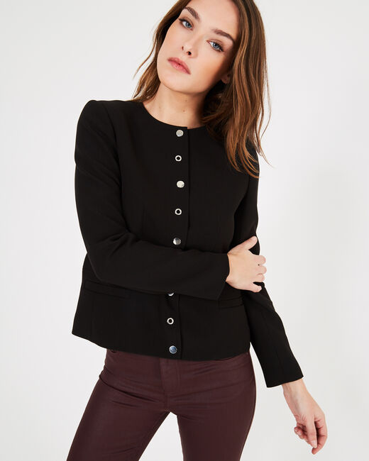 Music black jacket with press-stud buttons (2) - 1-2-3
