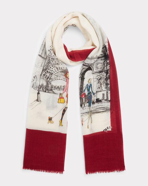 Elégance printed scarf in wool (1) - 1-2-3