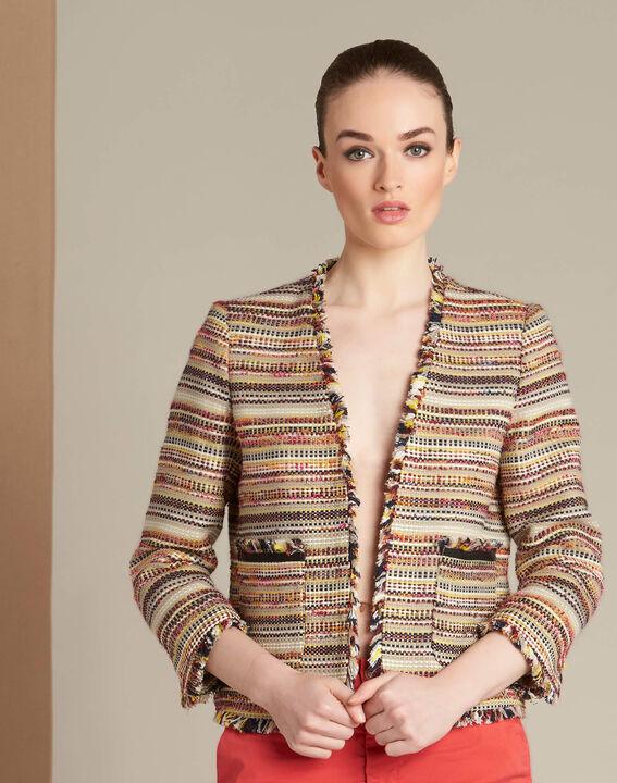 Veste en tweed et poches plaquées Citrouille (3) - 1-2-3