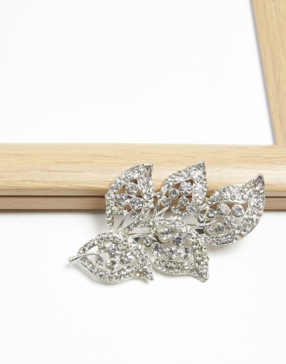 Xelia silver plated leaf brooch PhotoZ | 1-2-3