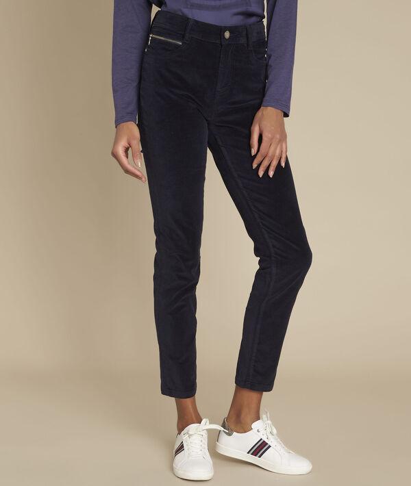 L'iconique slim : jean velours marine Sultan PhotoZ | 1-2-3
