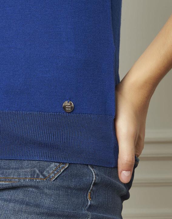 Begonia green short-sleeved fine-gauge pullover (3) - Maison 123