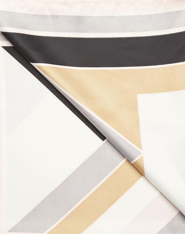 Nude sjaal met geometrische print Follow (2) - 37653