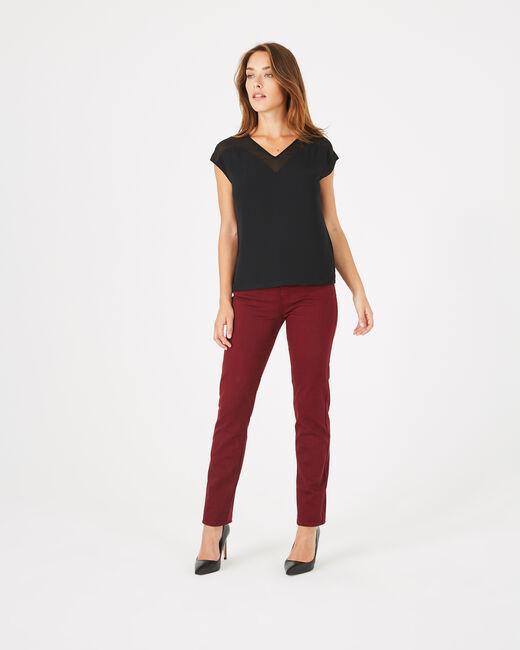 Tee-shirt noir bi-matière Beryl (1) - 1-2-3