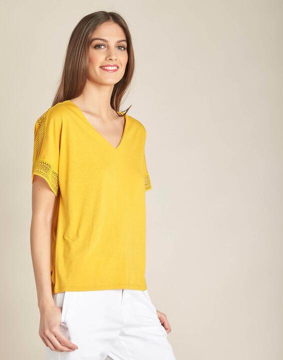 Estelle yellow lace T-shirt (3) - 1-2-3