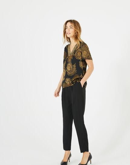 Dorée camel blouse with openwork detailing (5) - 1-2-3
