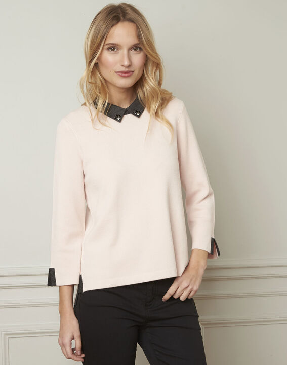 Avray batiste blouse collar powder pullover (1) - Maison 123