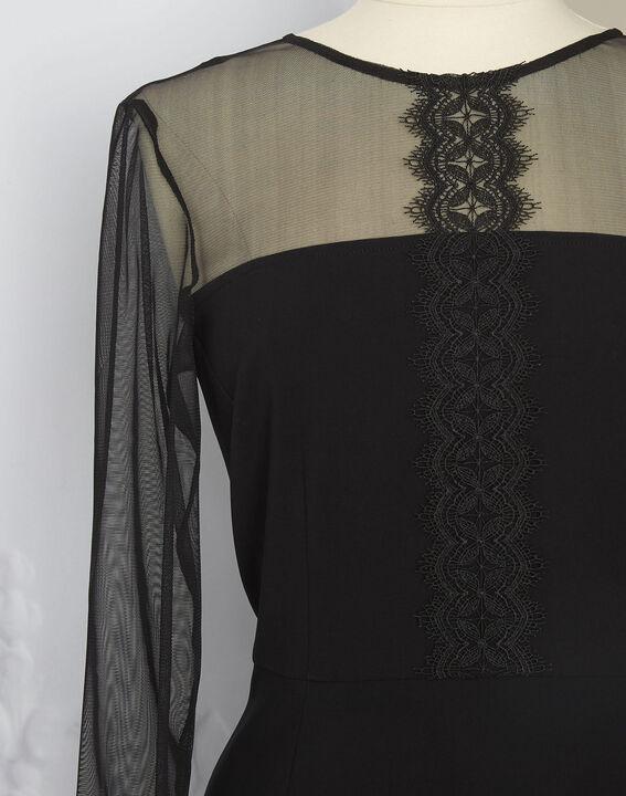 Robe noire empiècements tulle et dentelle Nadia - EXCLU WEB (4) - 1-2-3