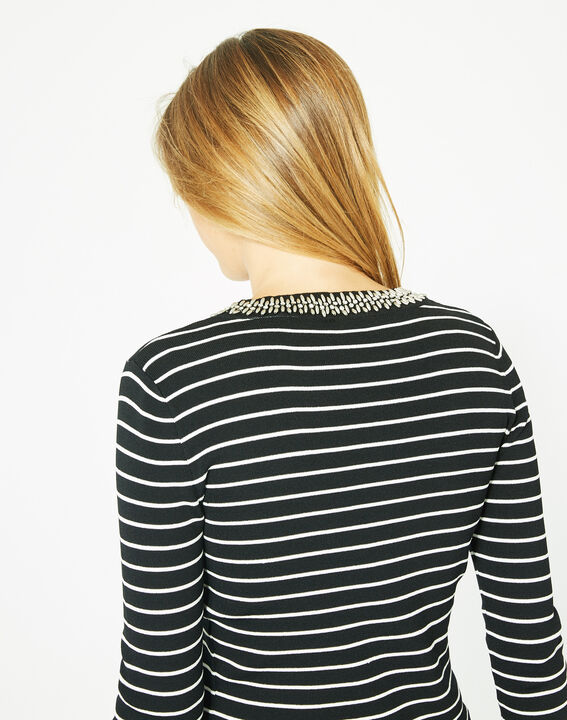 Parure black and white striped sweater in a stylish knit (5) - 1-2-3