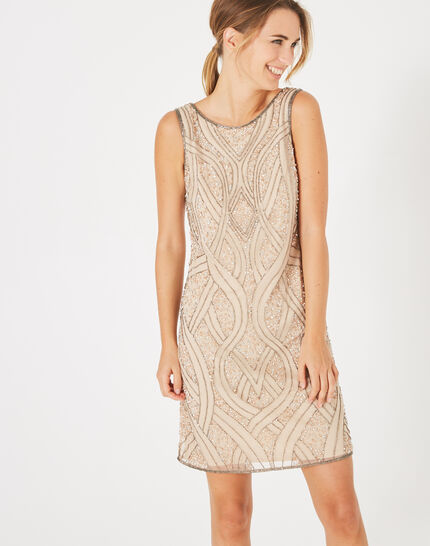 Floride nude embroidered dress (3) - 1-2-3