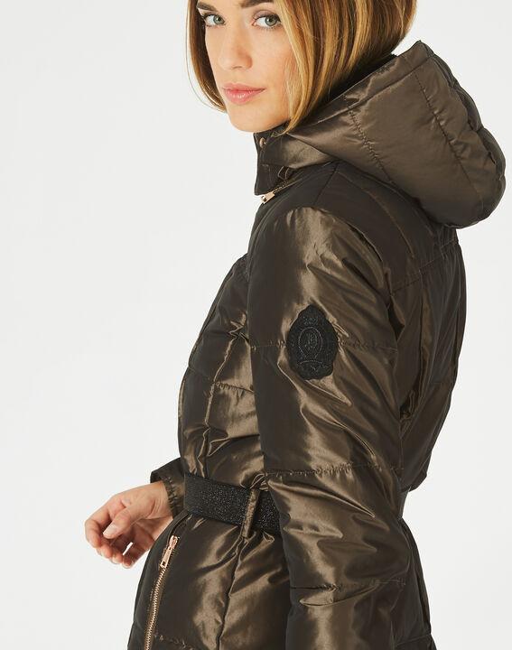 Livia bis mid-length khaki puffer jacket (4) - 1-2-3
