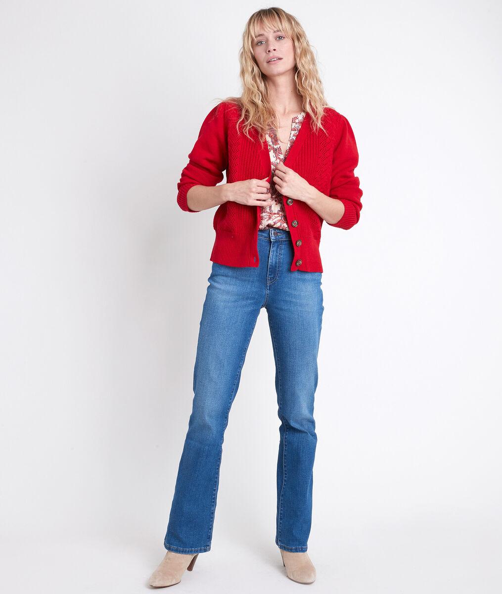 Gilet rouge en coton biologique Abbie PhotoZ | 1-2-3