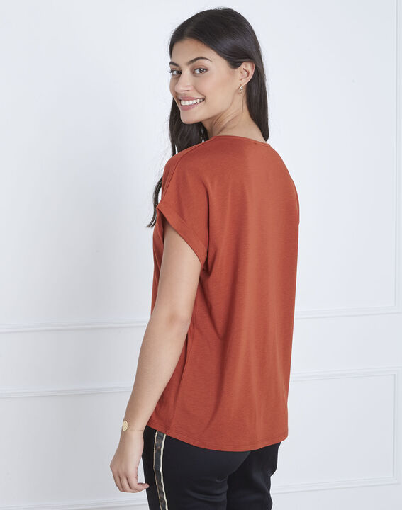 Tee-shirt marron laçage Papeete (4) - Maison 123