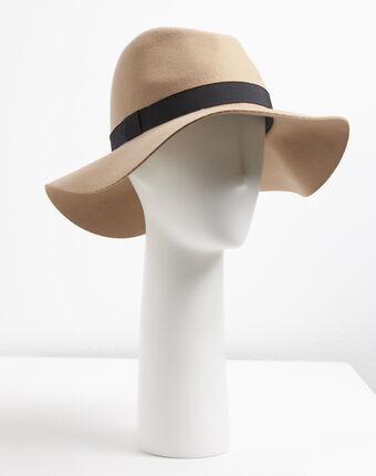 Hut aus filzwolle uma havanabraun.
