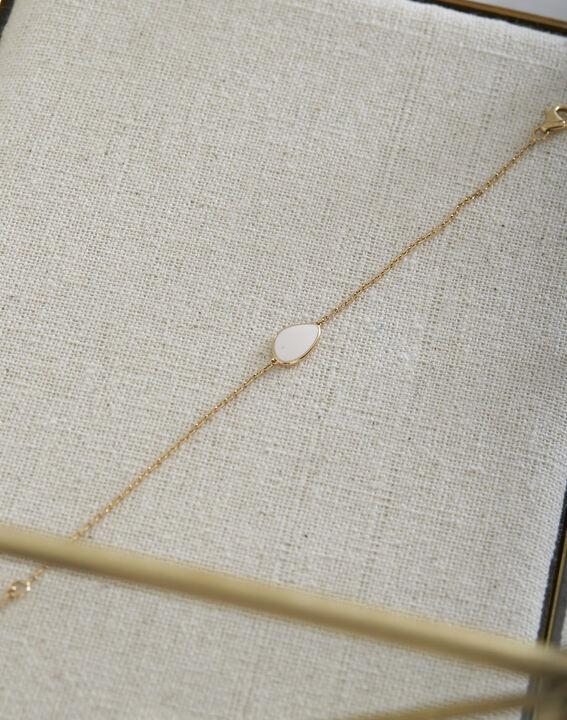 Bracelet doré larme blanche Tarsana PhotoZ | 1-2-3
