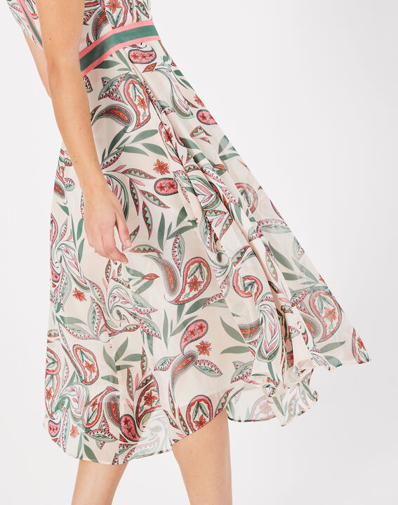 Adèle nude long dress with a stunning print (4) - 1-2-3