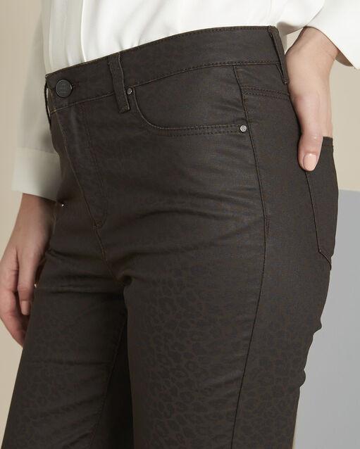 Pantalon marron imprimé léopard slim Vendome (2) - 1-2-3