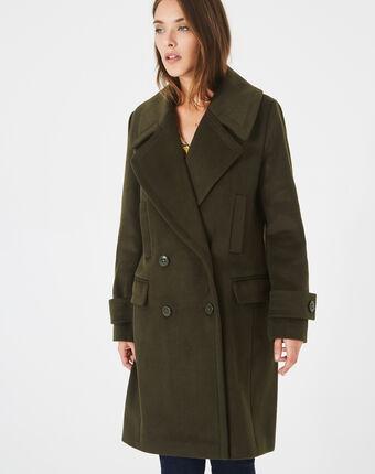 Manteau kaki en laine mélangée jasper olive.