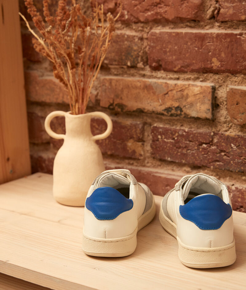 Sneakers van twee soorten leder Vicky PhotoZ | 1-2-3
