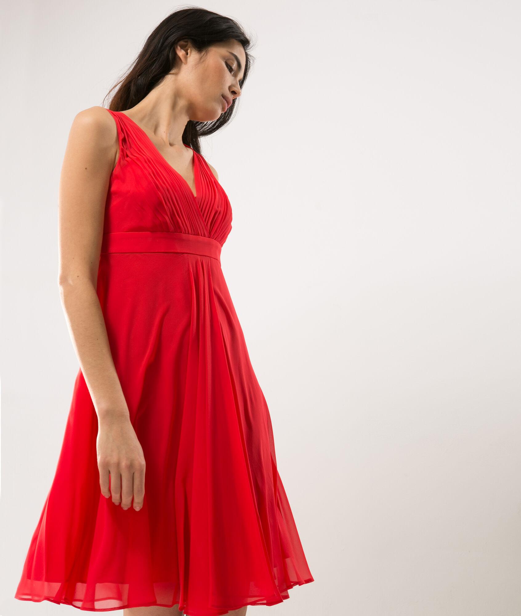 Robe rouge soie 123