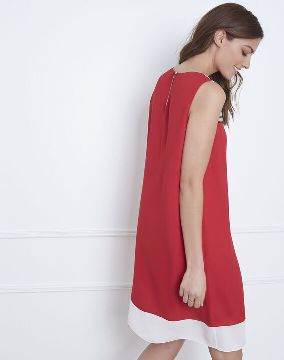 Isola red dress with lurex detailing (4) - Maison 123