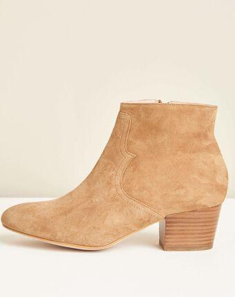 Kendal dual-fabric camel heeled boots camel.