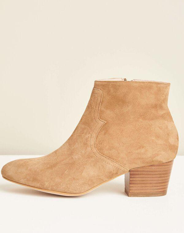 Kendal dual-fabric camel heeled boots (1) - 1-2-3