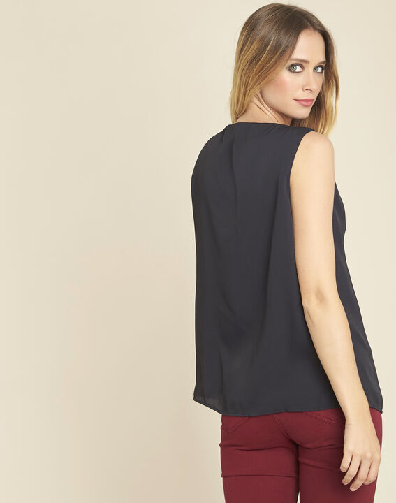 Fanette sleeveless black top with jewelled detailing (4) - 1-2-3