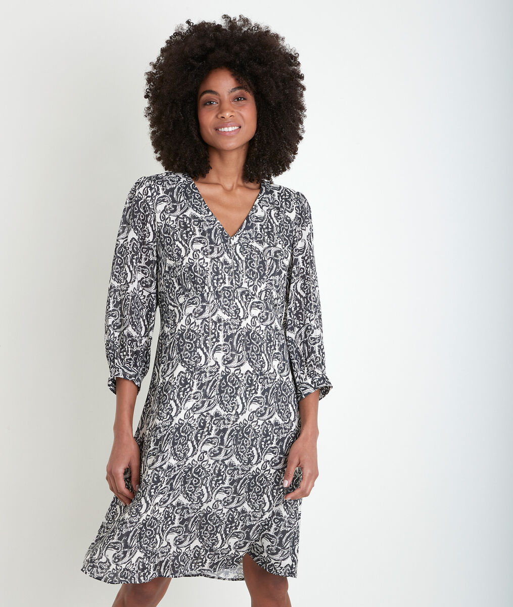 Bedrucktes Kleid aus Kaschmir Claudiane PhotoZ   1-2-3