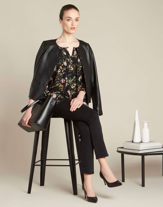 Vendôme slim cut standard size black jeans (2) - 1-2-3