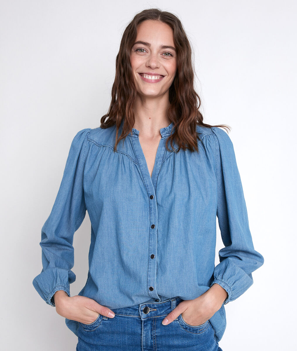 Blouse en denim Taly PhotoZ | 1-2-3