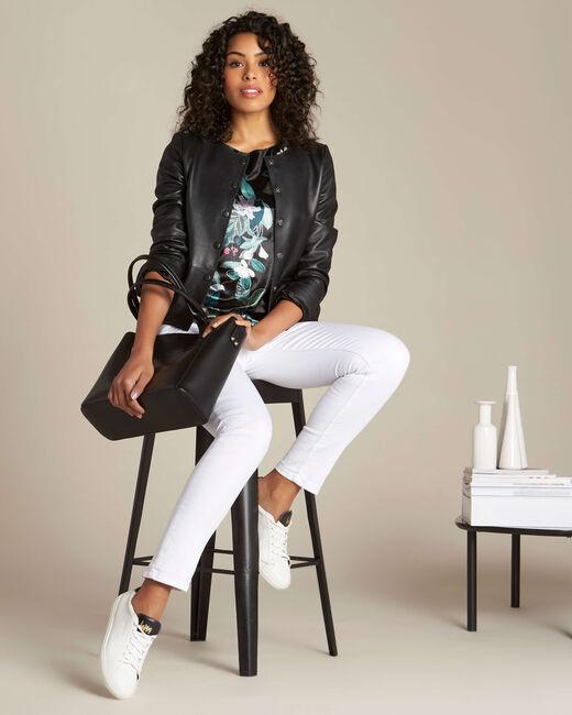 T-shirt noir imprimé fleuri Evy (1) - 1-2-3
