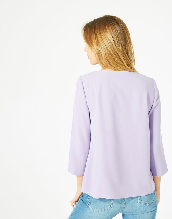 Blouse lilas col V Domino (5) - 1-2-3