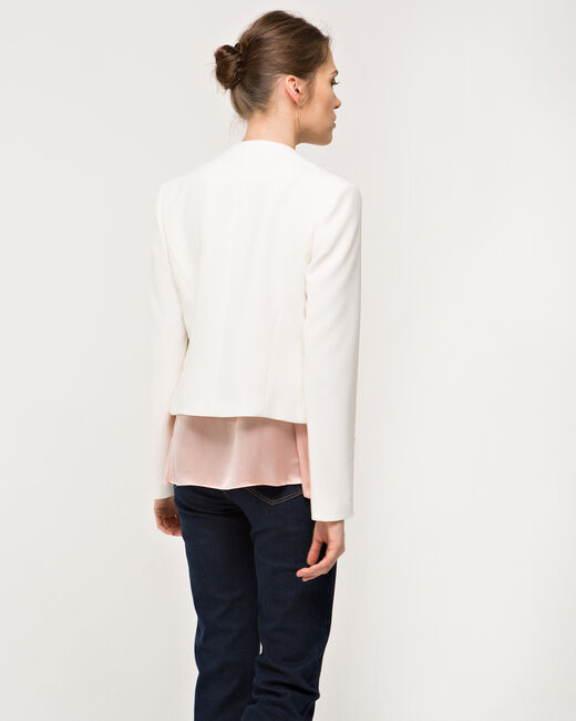 Louise ecru cropped jacket (2) - 1-2-3