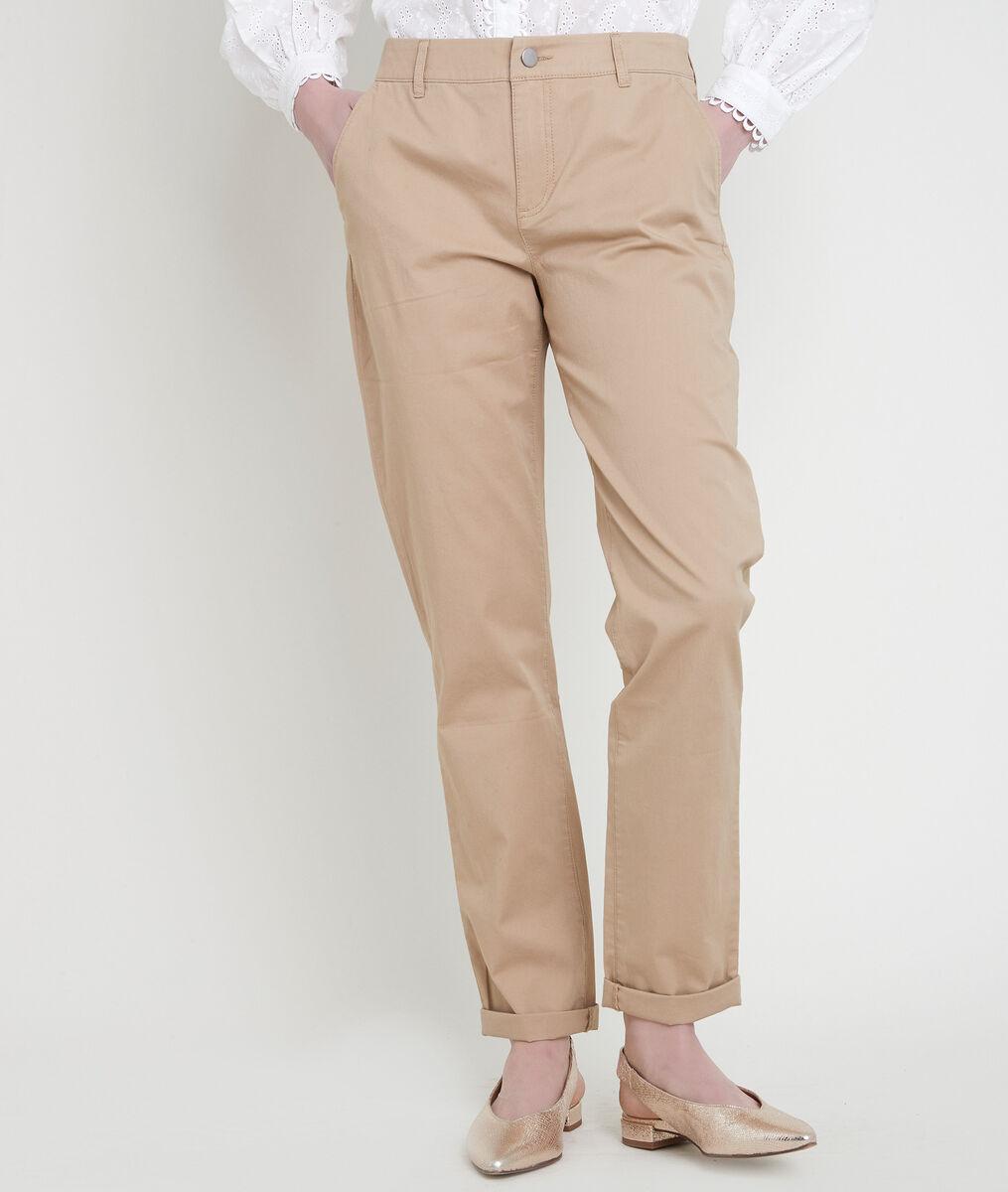 Pantalon chino en coton biologique beige Francis PhotoZ | 1-2-3